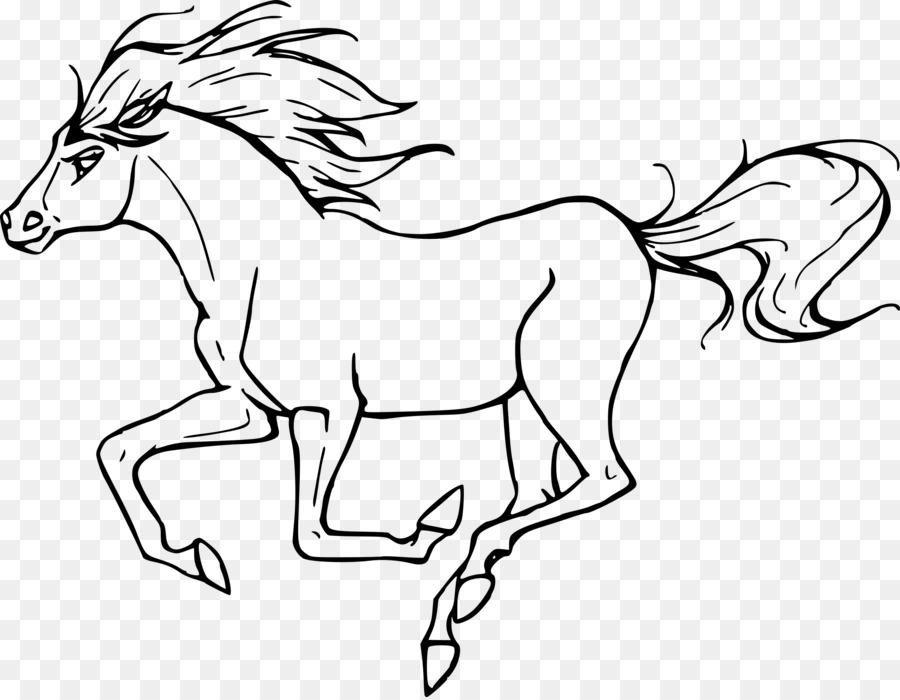 Mustang libro para Colorear de Pony Ecuestre Adulto - Mustang png ...