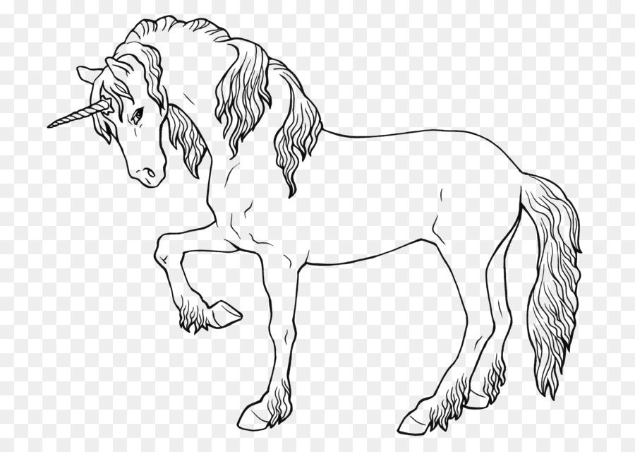 Ausmalbild Einhorn Legendäre Kreatur Pegasus Fohlen Einhorn Png