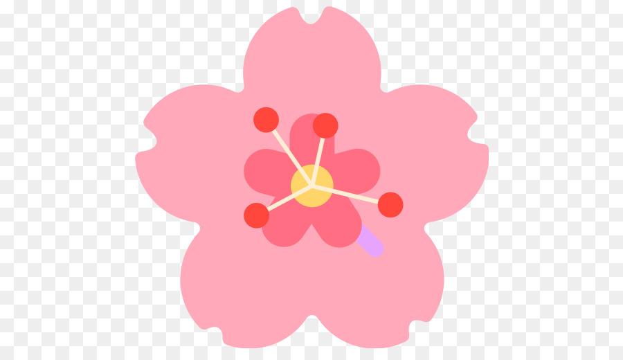 Emoji Sticker Flower Cerasus Hibiscus Emoji Png Download 512512