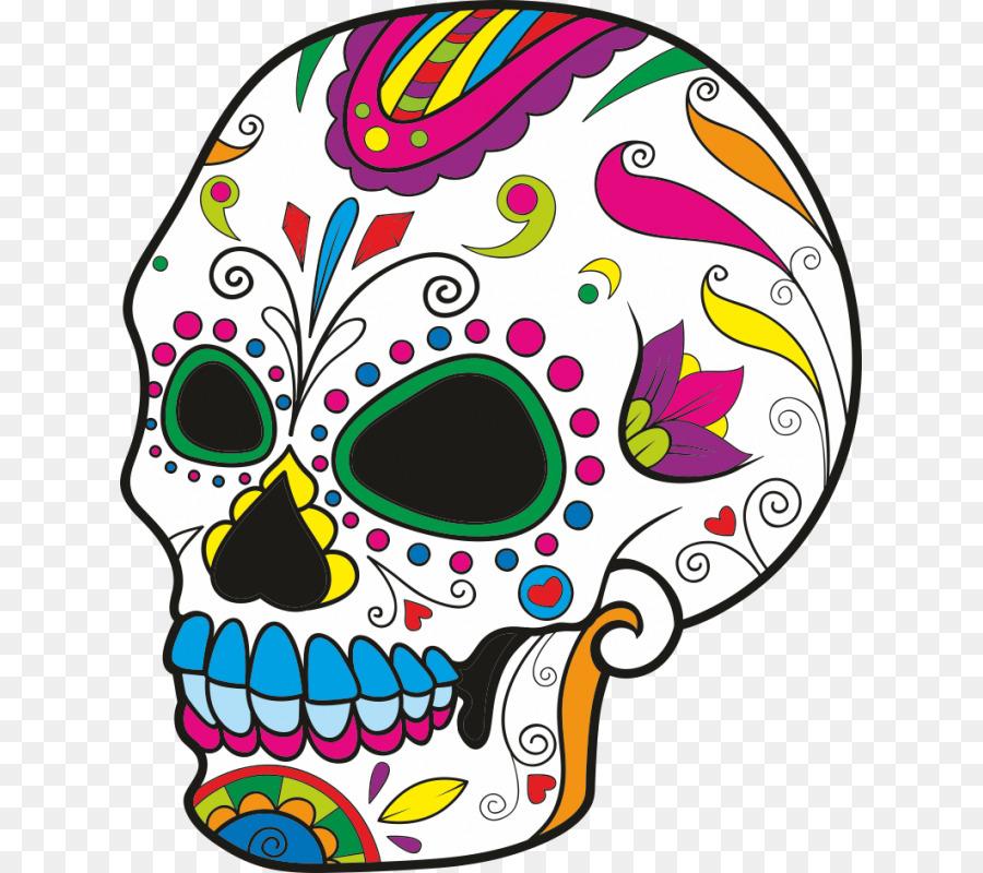 Calavera, Calaveras de Azúcar Libro para Colorear Día de los Muertos ...