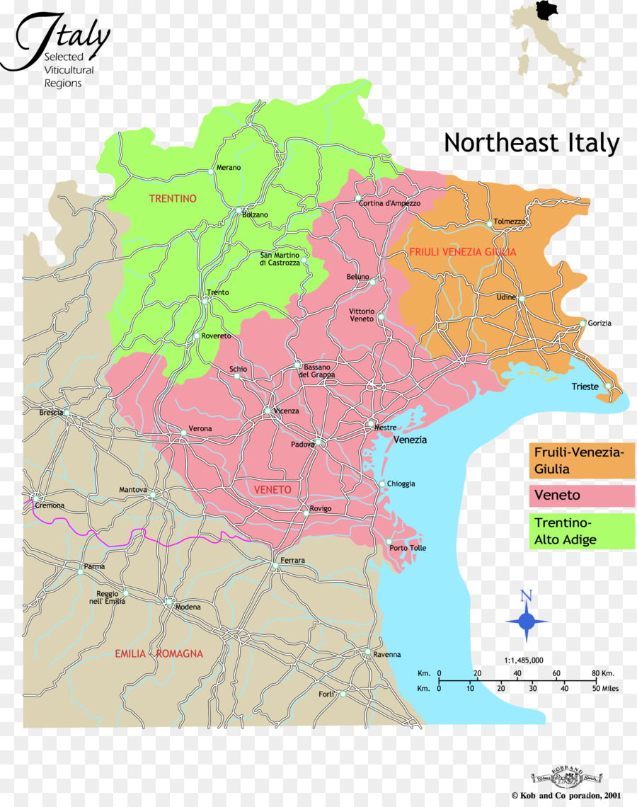 Northern Italy Northeast Italy North East Italy Veneto Map Map Png