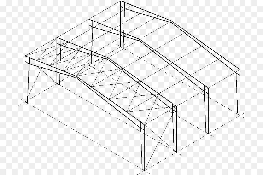 El arriostramiento transversal Estructura del Techo del Edificio de ...