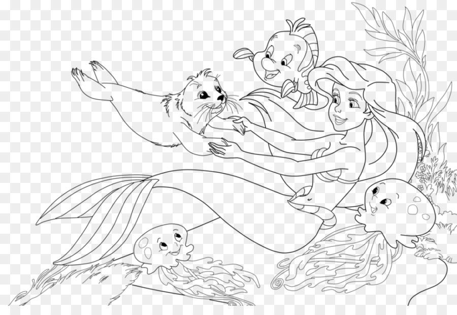 Ariel, El Príncipe Melodía libro para Colorear de Sirena - Sirena ...