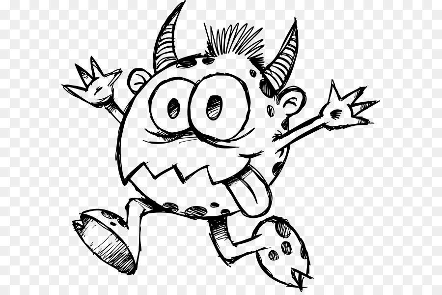 Dibujo De Monstruo Doodle - monstruo Formatos De Archivo De Imagen ...