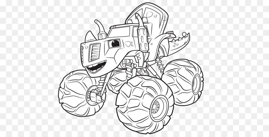 Darington libro para Colorear de Monster truck de Nick Jr - otros ...
