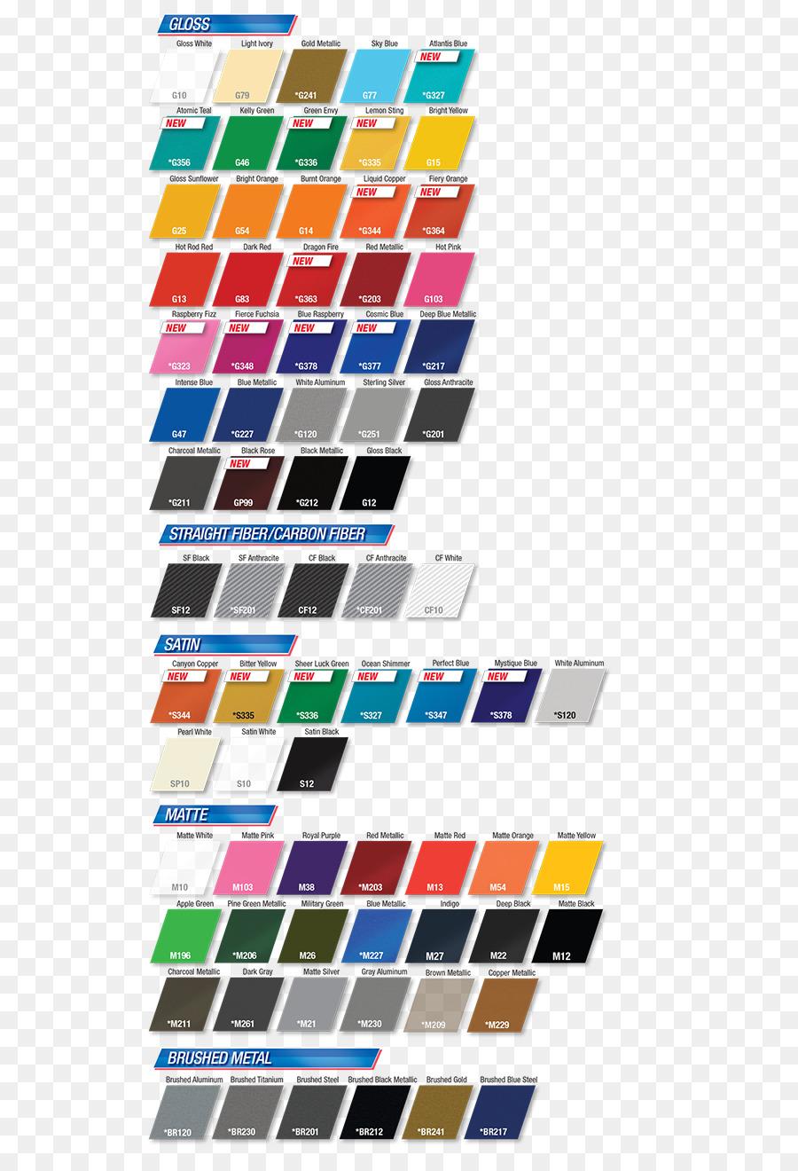 Car Color Chart Wrap Advertising 3m Car Png Download 600 1305