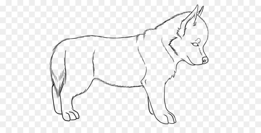 Husky siberiano Cachorro Mula de Alaska husky arte de Línea ...