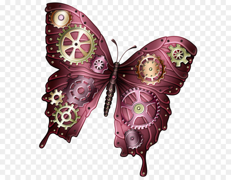 butterfly steampunk clip art butterfly png download