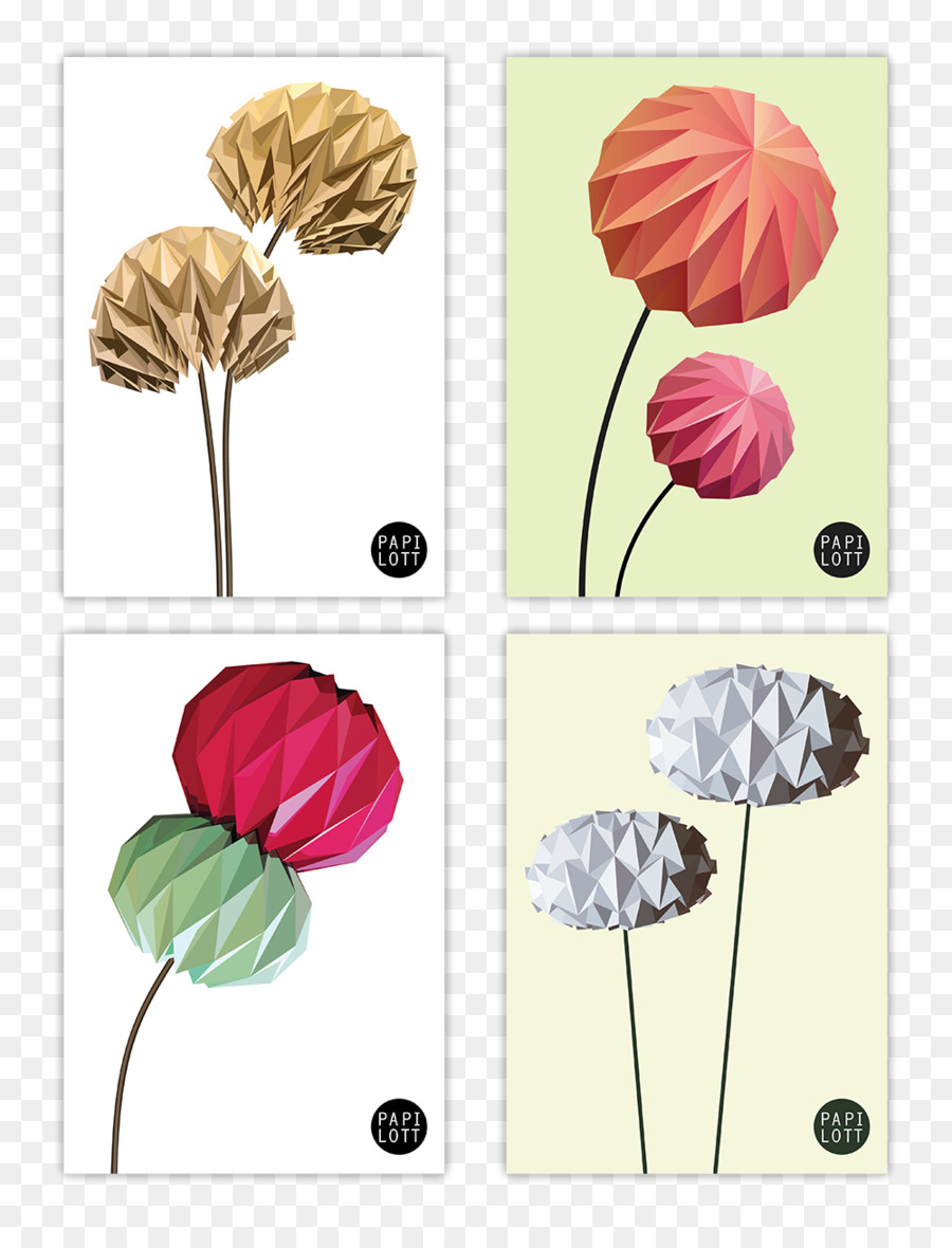 Origami Paper Flower Off White Pattern Others Png Download 1000