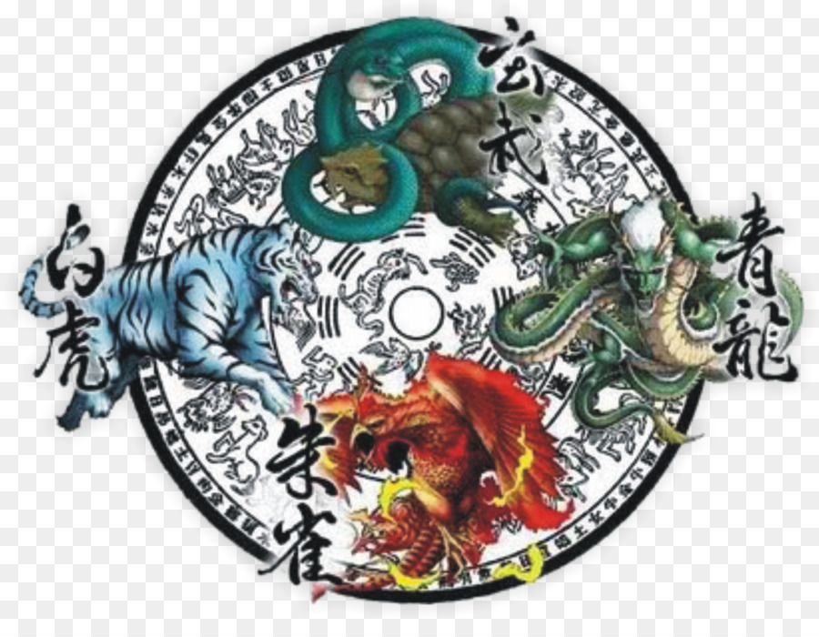 Turtle White Tiger Four Symbols Azure Dragon Phoenix Turtle Png