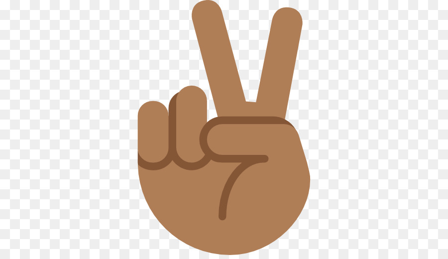 Emoji Black Peace Symbols V Sign Dark Skin Emoji Png Download