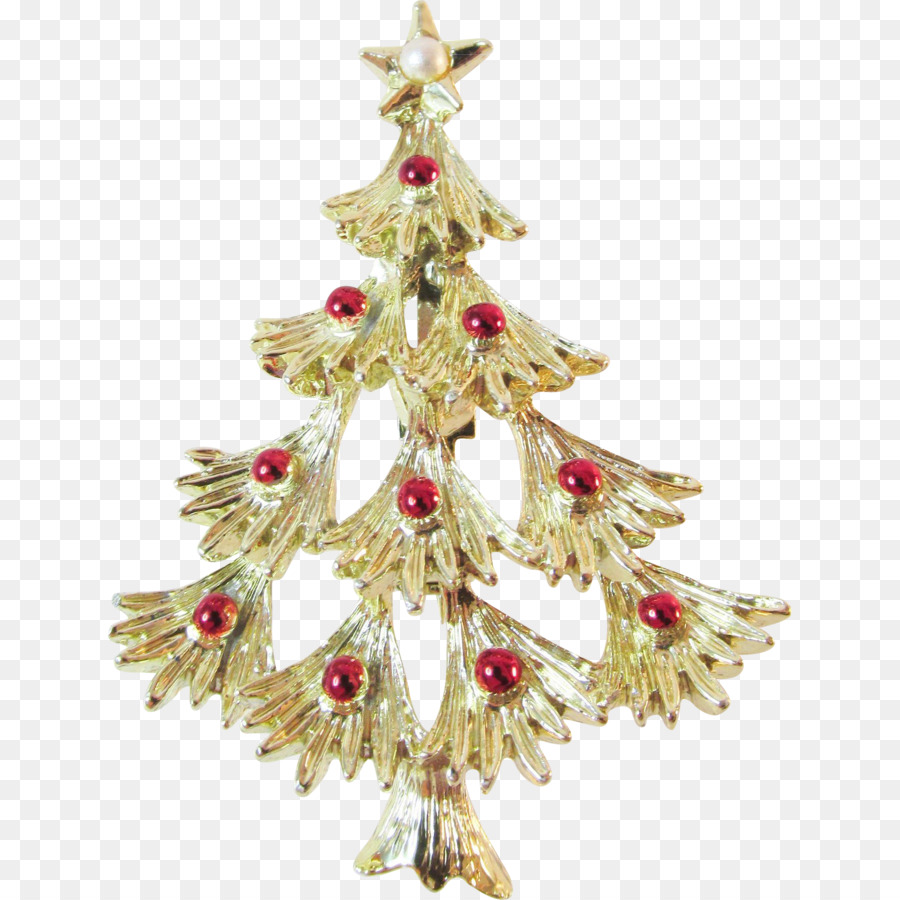 Christmas ornament Spruce Christmas tree Brooch Body Jewellery ...