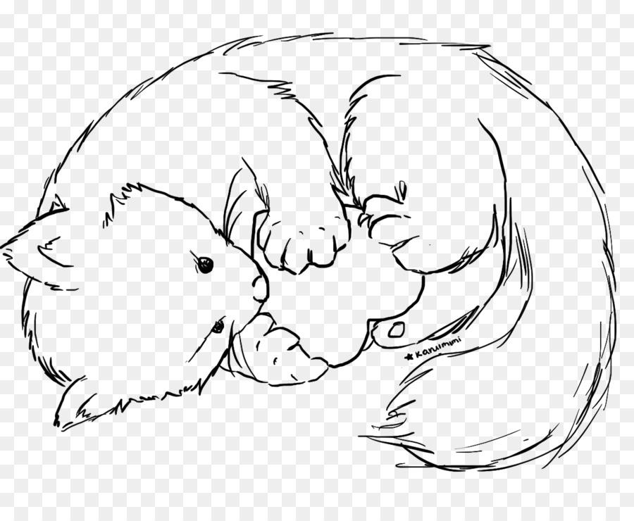 Oso panda Gigante panda Rojo de la Línea de Dibujo artístico - oso ...