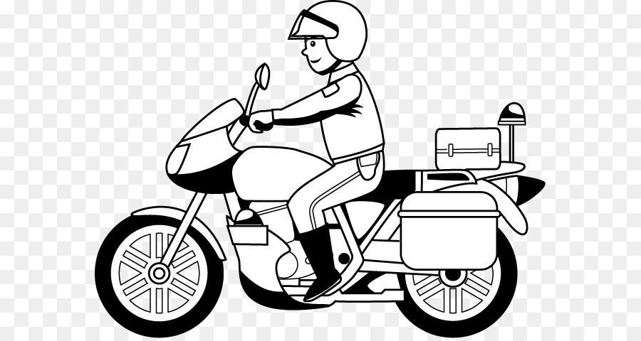 La policía de la motocicleta Honda libro para Colorear - motocicleta ...