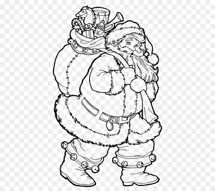 Santa Claus libro para Colorear de Navidad Rodolfo el Dibujo - Santa ...