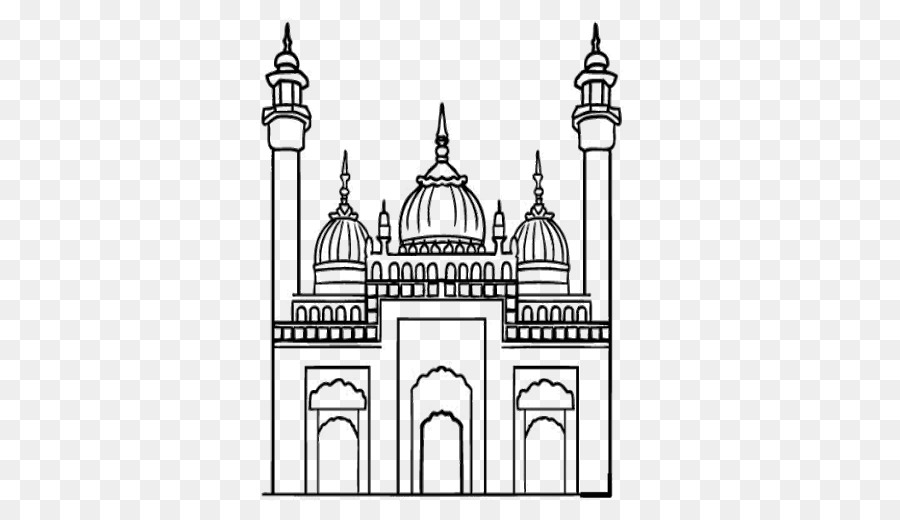 Mewarnai Gambar Cookie Family Colouring Pages Mosque Others Png