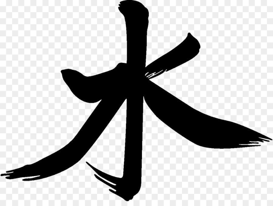 Chinese Characters Symbol Water Sign Symbol Png Download 1000