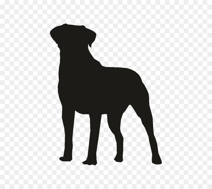 bulldog the rottweiler pug clip art silhouette png download 800 rh kisspng com Black and White Dog Portraits Black and White Dog Portraits