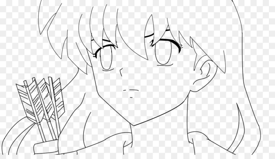 Kagome Higurashi Kikyo arte de Línea de Dibujo de Croquis - inuyasha ...