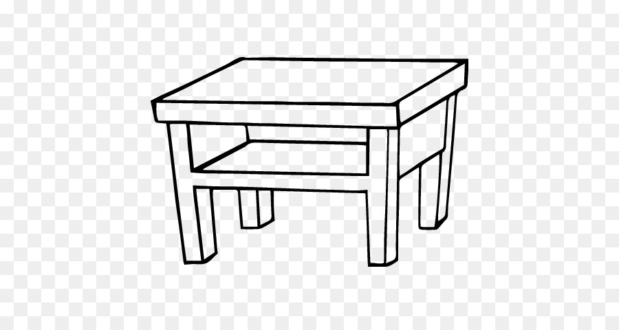 Coffee Table Drawing In Bedside Tables Drawing Living Room Dining Table Png Download