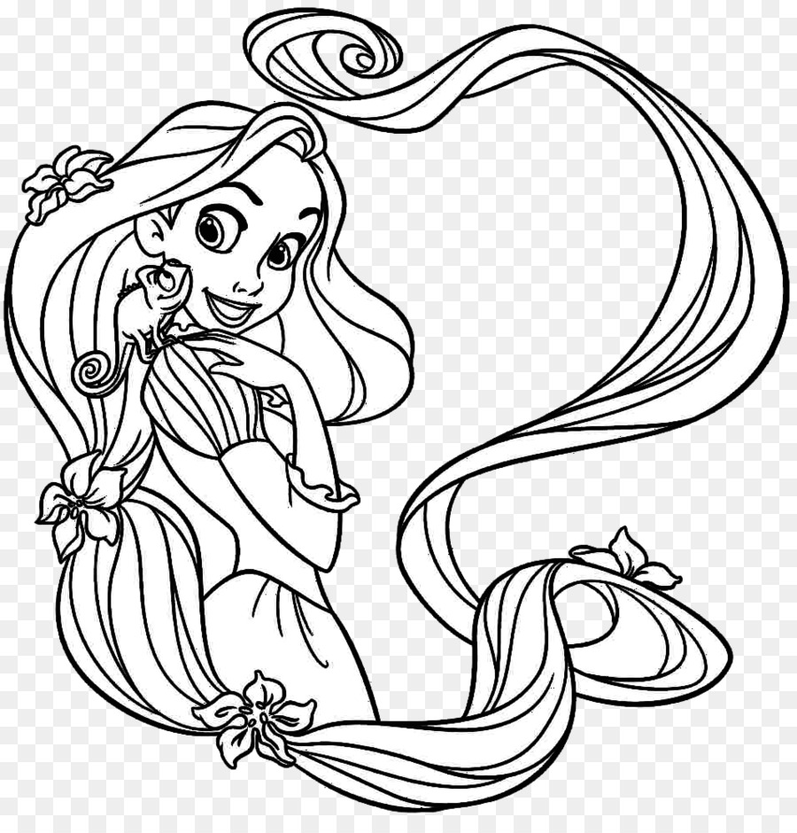 Rapunzel Coloring book Disney Princess Tangled Child - Disney ...