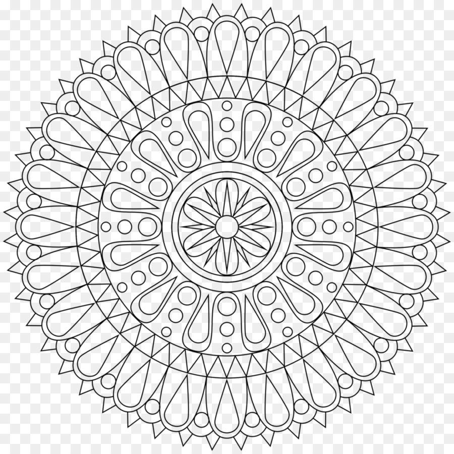 Mandala Coloring Book Meditasi Mantra Dewasa Lain Lain Png Unduh