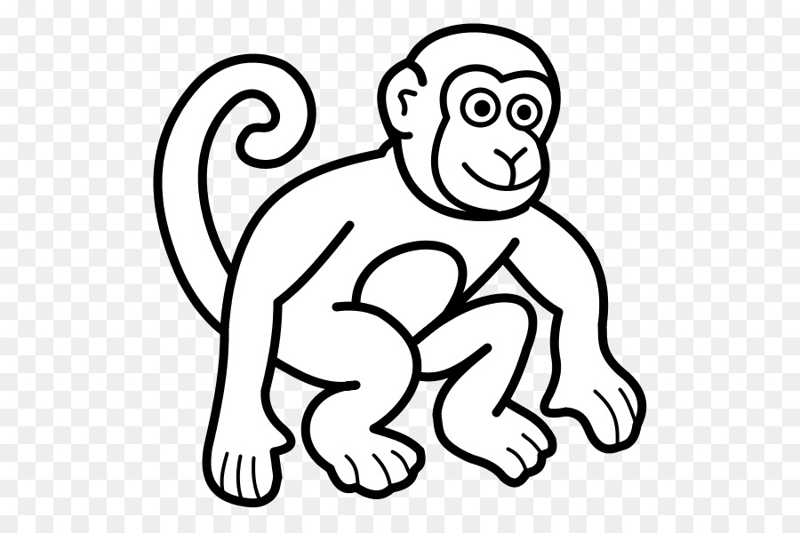 Coloring book Monkey Drawing Child - monkey png download - 600*600 ...