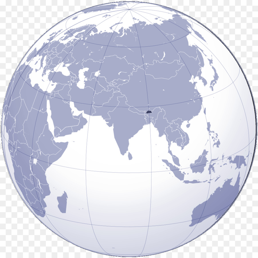 Nepal In The World Map.Nepal Globe World Map Globe Png Download 1000 1000 Free