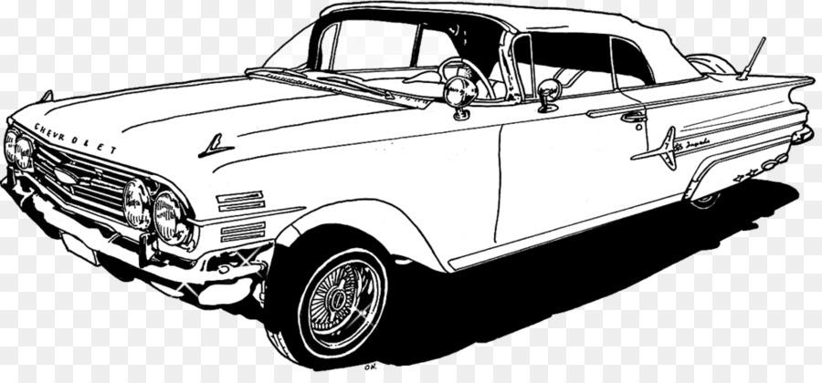 Chevrolet Impala Coche Lowrider Libro Para Colorear - coche png ...
