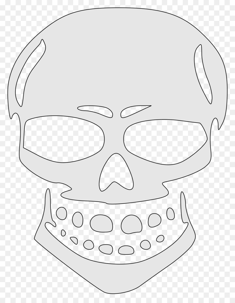 Cráneo galería de símbolos de Clip de la Nariz de arte - plantilla ...