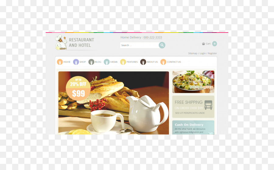Cafe diseño web Responsive Plantilla Restaurante Joomla - WordPress ...