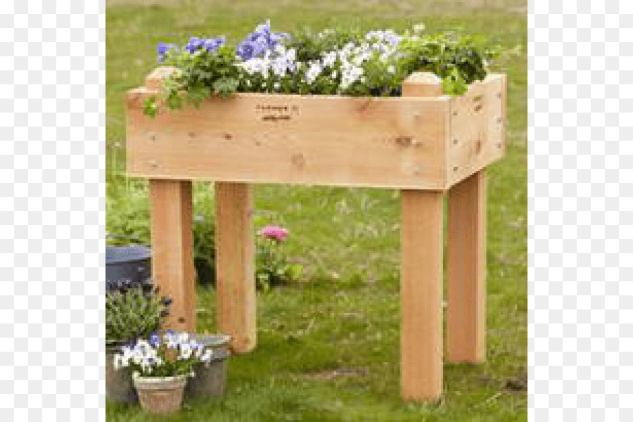 Table Raised-bed gardening Flower box Flower garden - table png ...