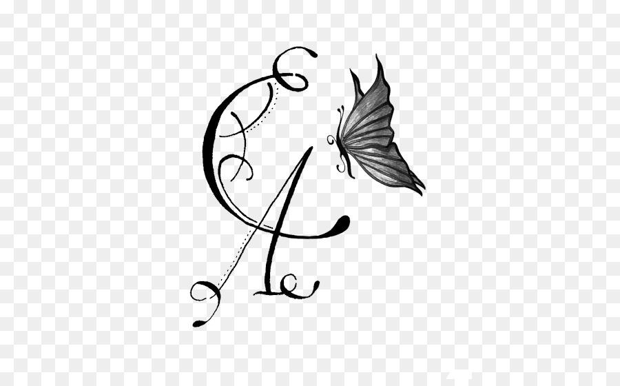 Calligraphie De La Lettre De Tatouage Initiale De L Alphabet D