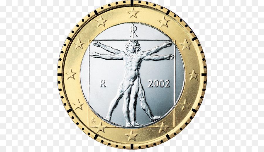 Italienische Euro Münzen 1 Euro Münze Münze Png Herunterladen