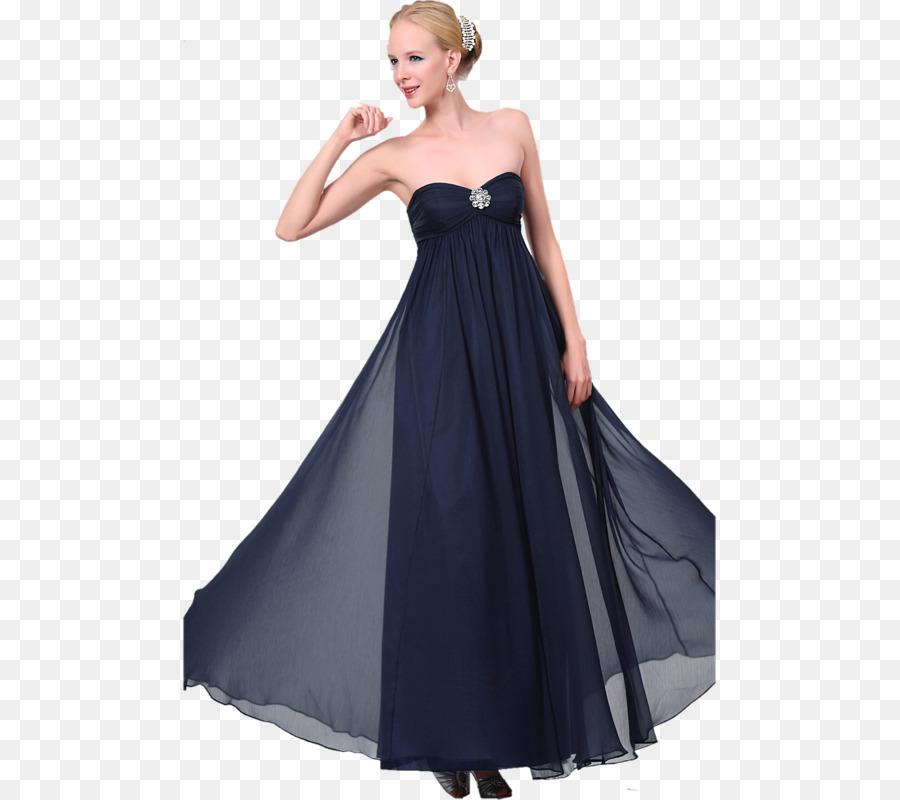 Little black dress Evening gown Midnight blue - dress png download ...