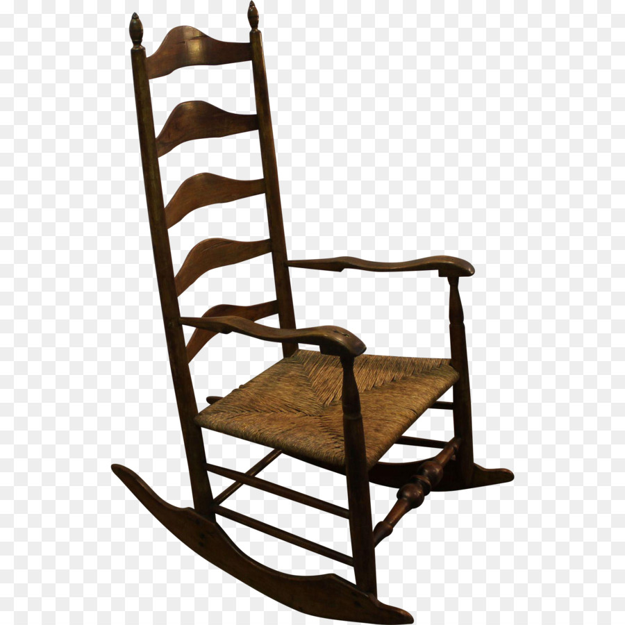 1800s Rocking Chairs Ladderback chair Furniture - chair - 1800s Rocking Chairs Ladderback Chair Furniture - Chair Png Download