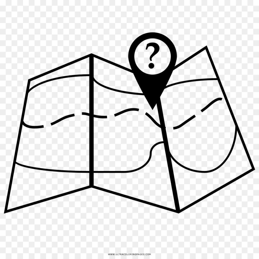 Kitap çizim Harita Boyama Siyah Ve Beyaz Harita Png Indir 1000