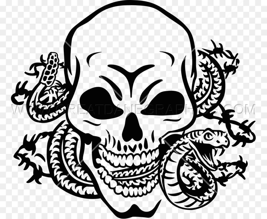 Skull Snake Skeleton Clip Art