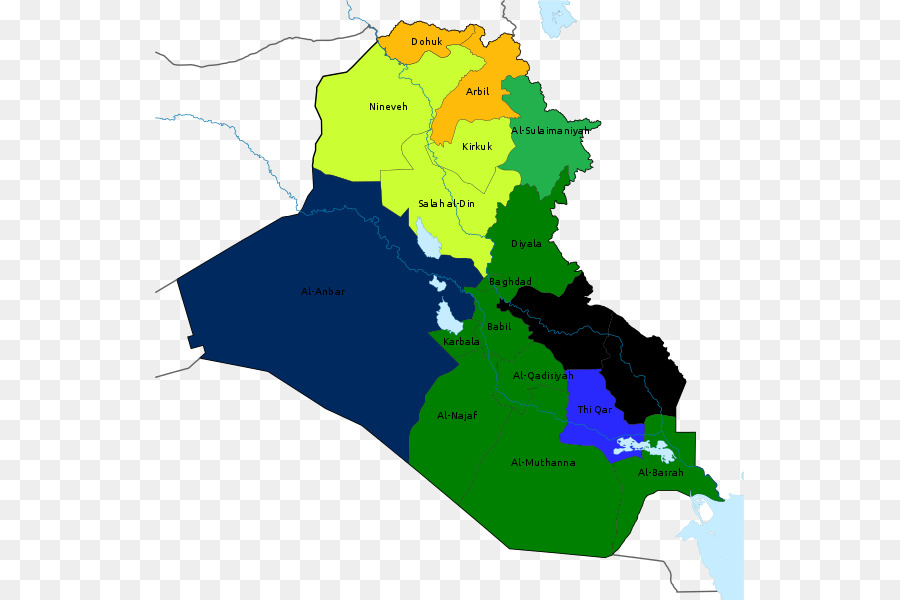 Iraqi Kurdistan Baghdad Vector Map - map png download - 589*600 ...