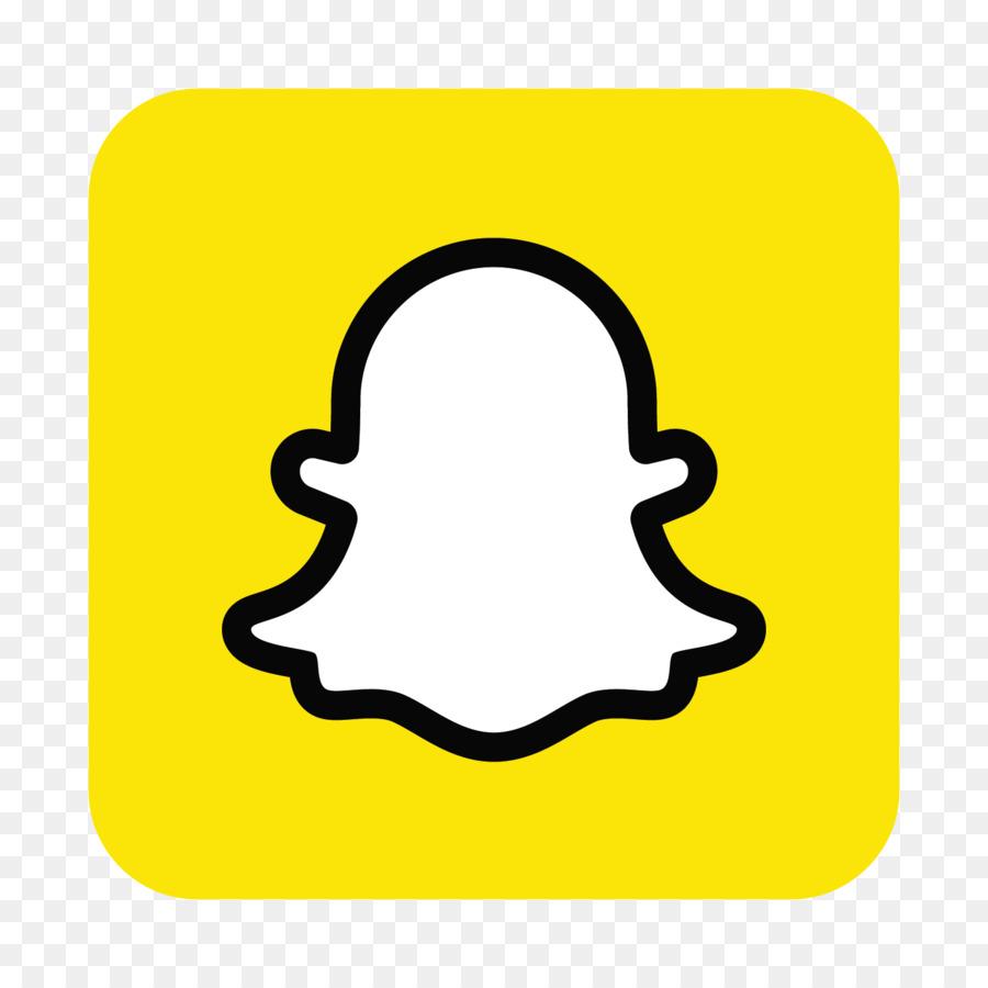 Snapchat app. Social media logo png