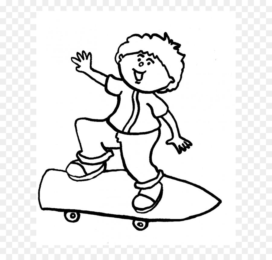 Dibujo Infantil para Colorear libro en blanco y Negro - niño png ...