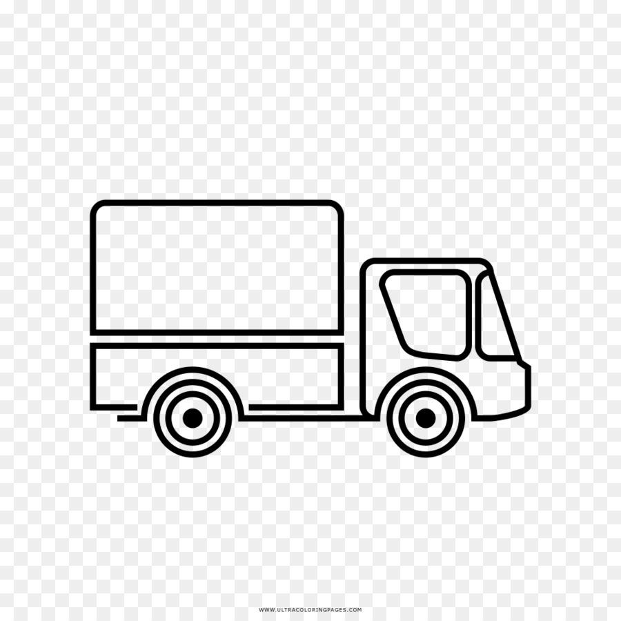 Camioneta Dibujo para Colorear libro camión Semi-remolque - camión ...