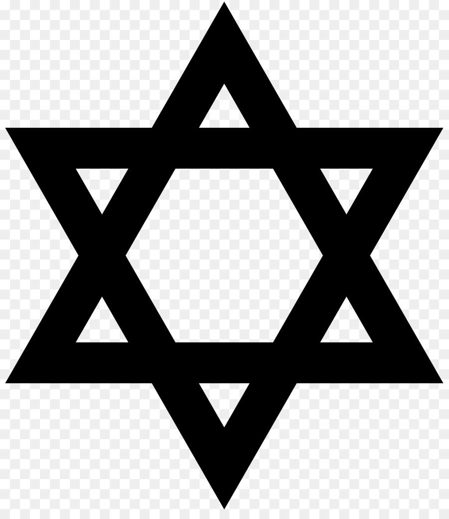 Star Of David Judaism Jewish Symbolism Black Star Png Download