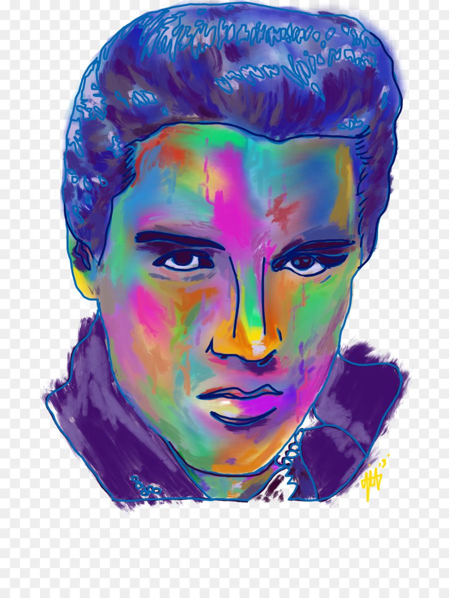 Portrait Bildende Kunst Acryl Malen Elvis Png Herunterladen 2400