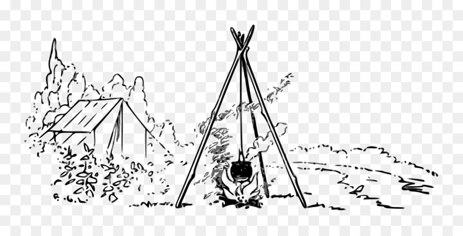 Campfire Drawing Sketch