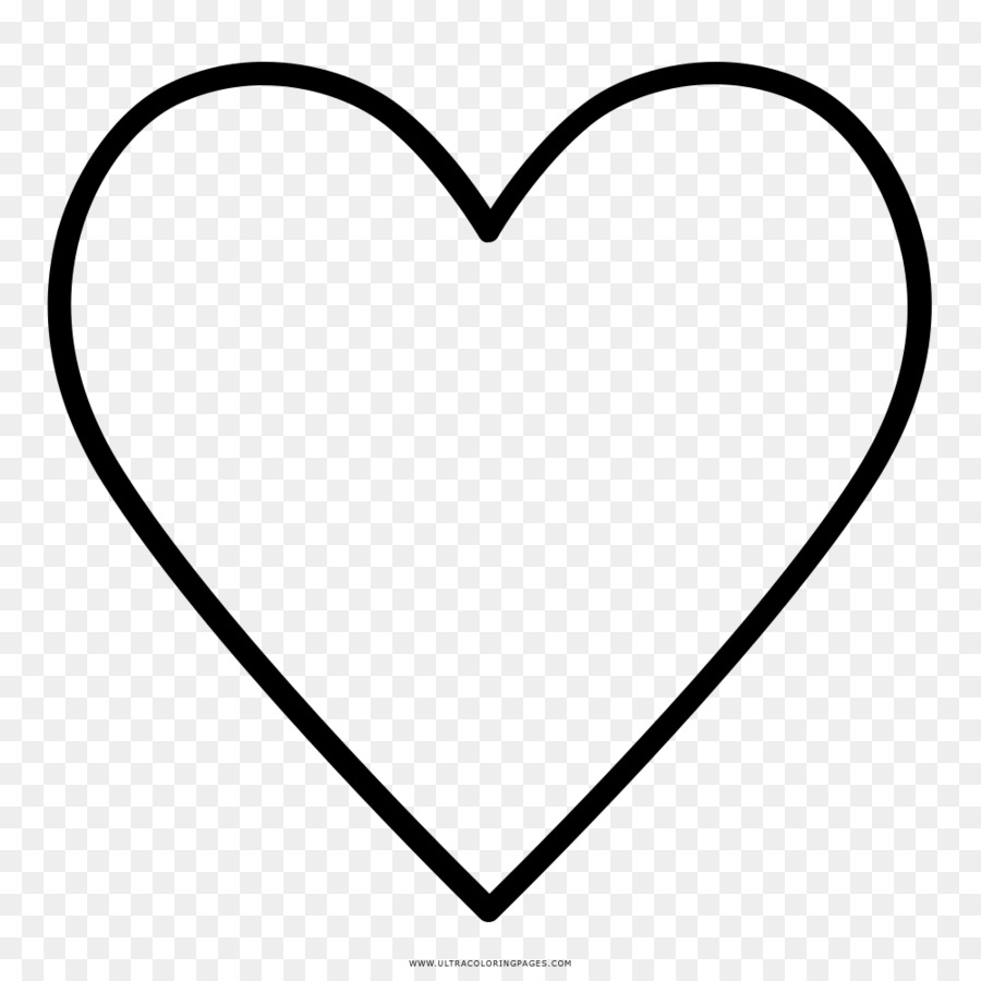 Heart Coloring book Drawing Ausmalbild Black and white - heart png ...