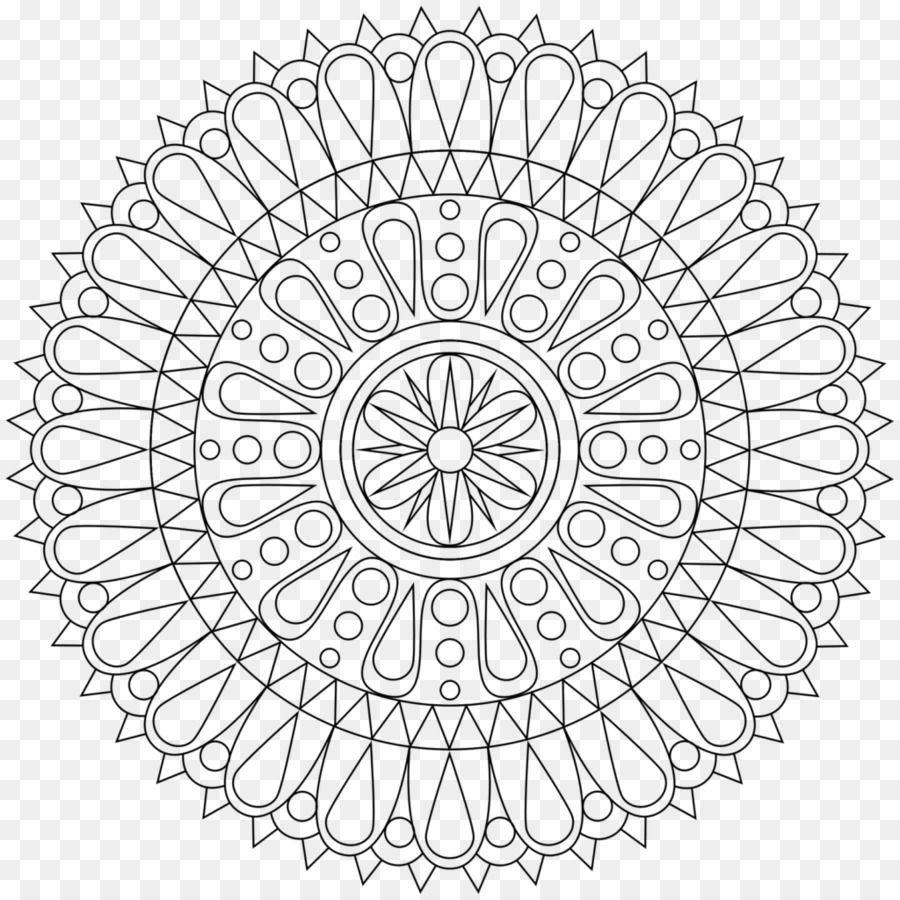 Mandala Coloring Book Meditation Buddhism Mantra