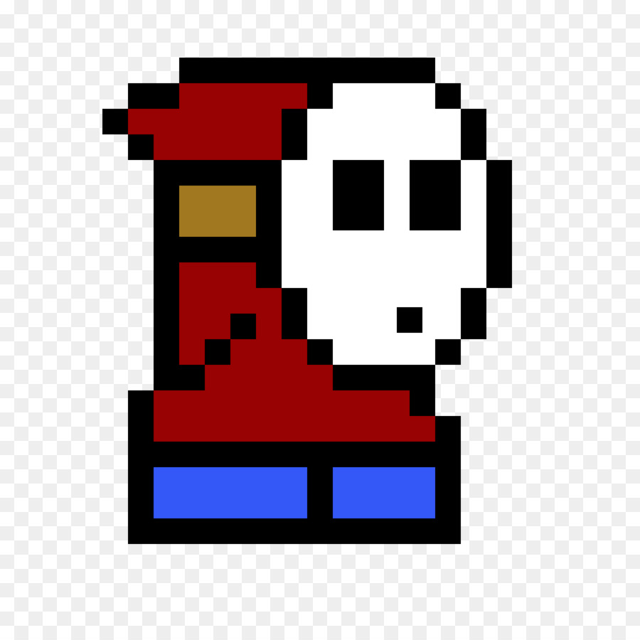 Beautiful Minecraft Pixel Art Shy Guy Mario   Pixel Art