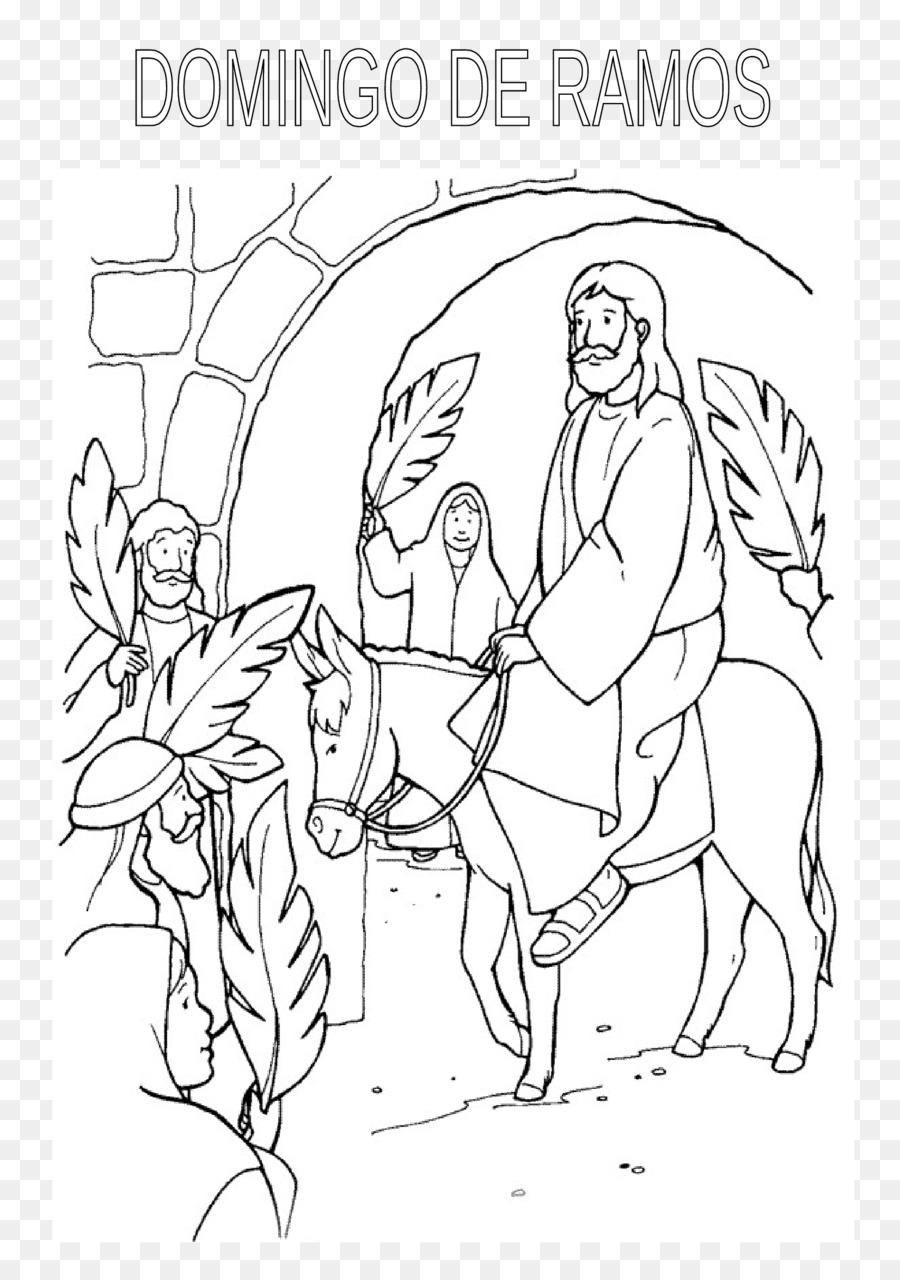 Domingo de ramos libro para Colorear de Pascua Niño de la Biblia ...