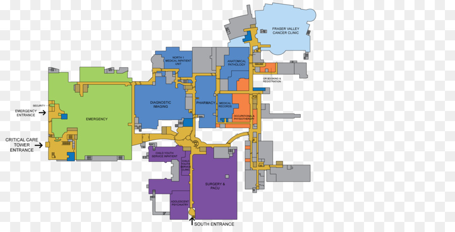 Surrey Memorial Hospital Map Surrey Memorial Hospital Area png download   1900*950   Free